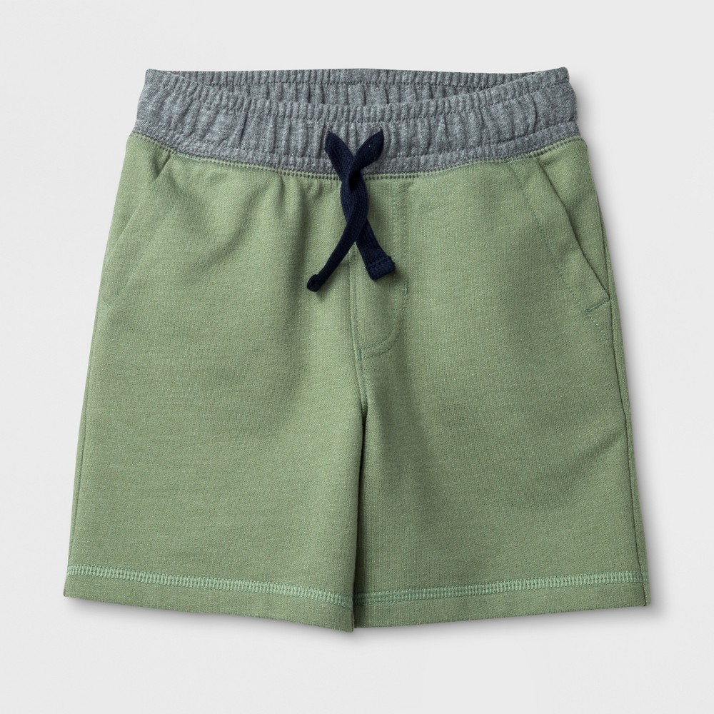 Image of Toddler Boys' Pull-On Shorts - Cat & Jack Pioneer Sage 18M, Boy's, Pioneer Green