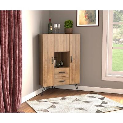 Retro Corner Multi Functional Cabinet Amaretto - Inval