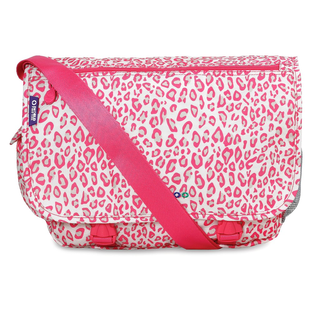 J World Terry Messenger Bag - Pink/White, Speckle