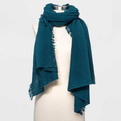 Women's Cashmere Wool Blend Blanket Scarf - Universal Thread™