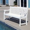 Vifah Bradley Eco-friendly 5' Outdoor White Wood Garden Bench - image 3 of 4