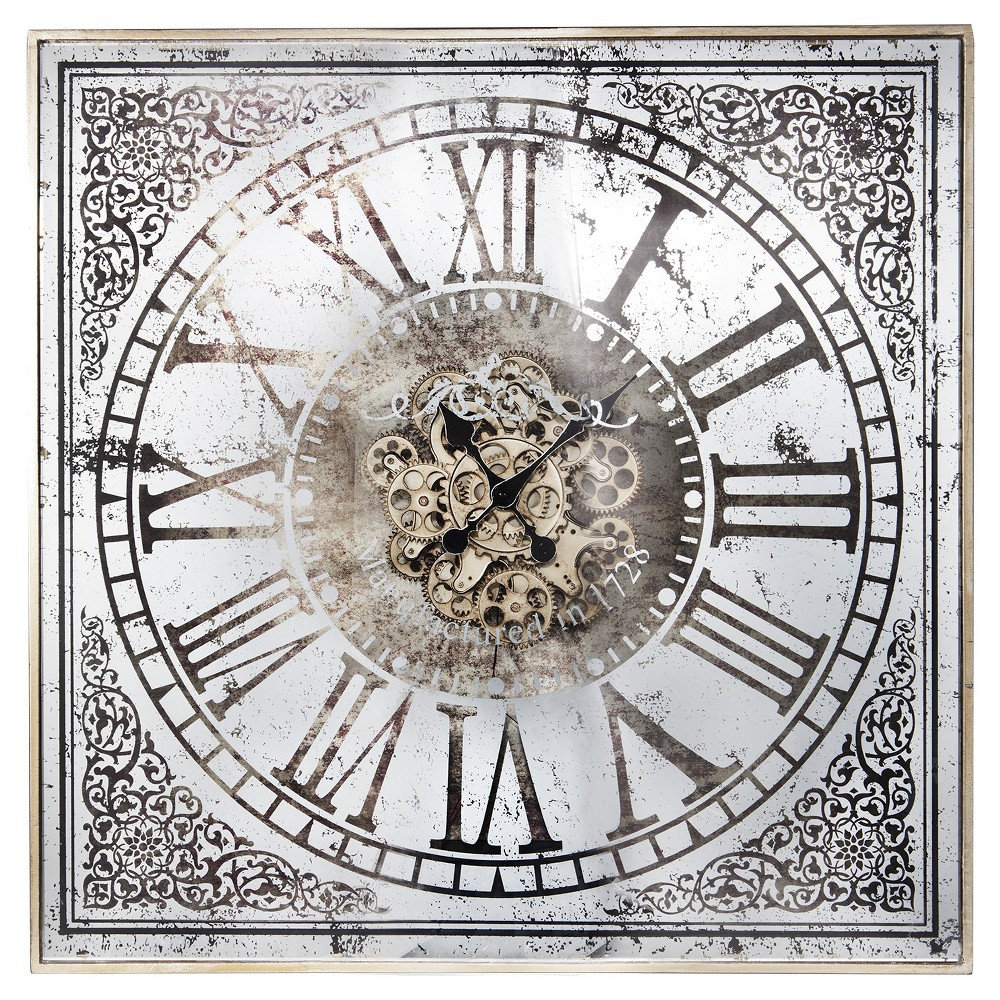 Image of 36 Square Wall Clock White/Black - A&b Home