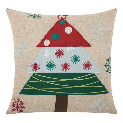 Neutral Tree Throw Pillow - Mina Victory - image 1 of 3