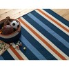 Painter Stripe Braided Area Rug - Set Sail Blue - (8'x10') - Colonial Mills - image 4 of 4