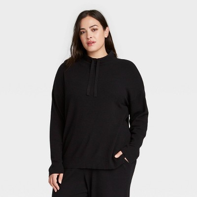 Women's Plus Size Mock Turtleneck Pullover - Ava & Viv™