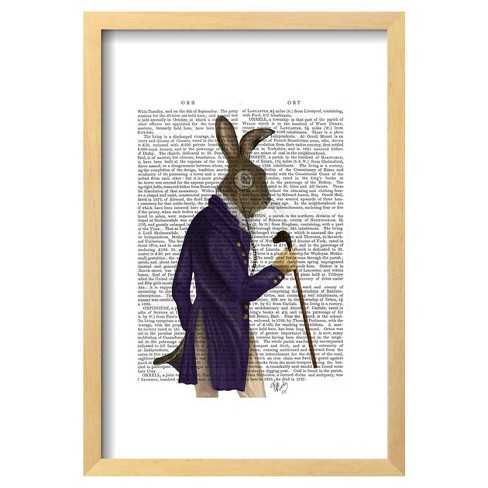 "Hare In Purple Coat By Fab Funky Framed Poster 13""X19"" - Art.Com - image 1 of 4"