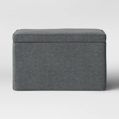 Double Storage Ottoman Gray - Room Essentials™