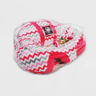 Hugaboo Baby Floor Seat - Pink Chevron