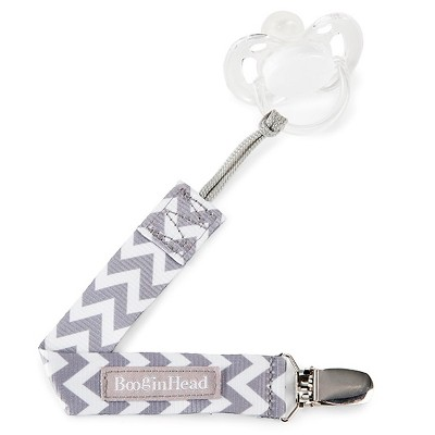 PaciGrip Pacifier Clip – Grey Chevron