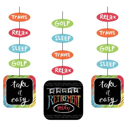 3ct Retirement Chalk Hanging Cutouts - image 1 of 2