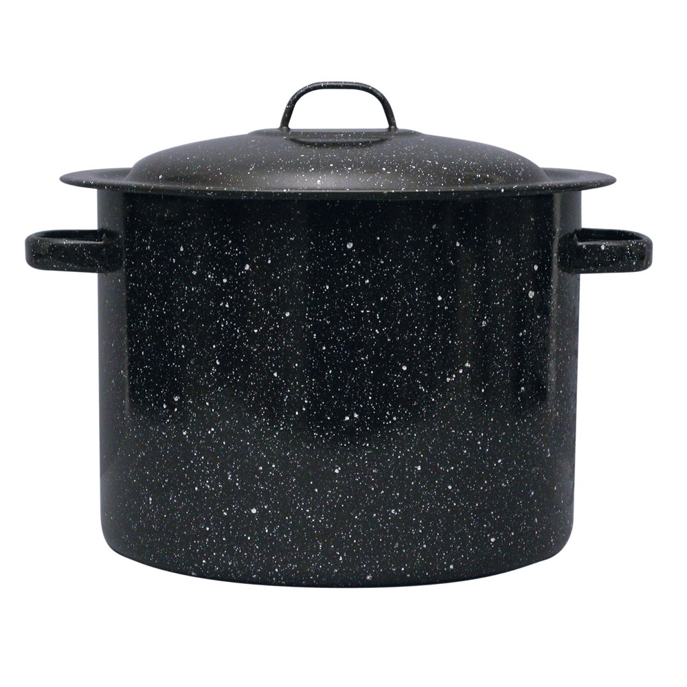 Image of Granite Ware 12qt Stock Pot Black