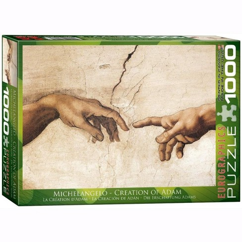 Eurographics Inc. Creation of Adam Detail by Michelangelo 1000 Piece Jigsaw Puzzle - image 1 of 4