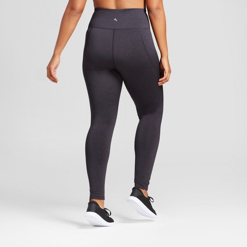 3171e61a15a Women s Plus High Waist Mini Stripe Leggings - JoyLab™ Black 4X   Target