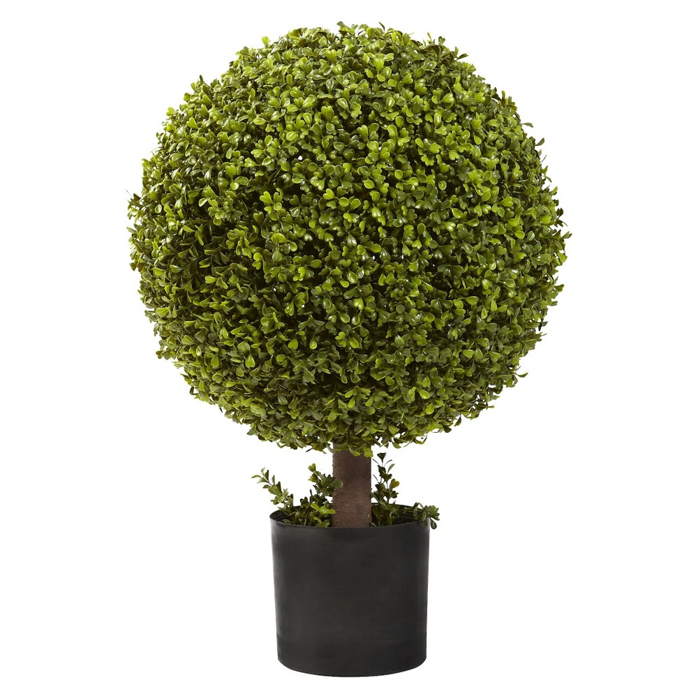 Image of Nearly Natural 27 Boxwood Ball Topiary, Green