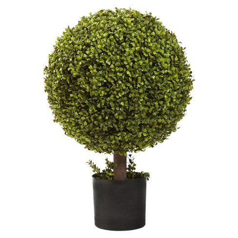 "Nearly Natural 27"" Boxwood Ball Topiary - image 1 of 1"