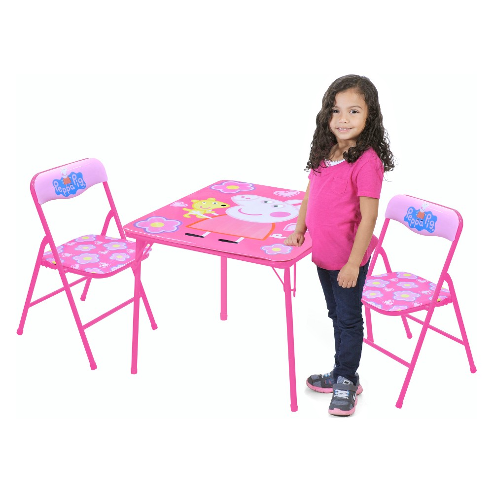 Peppa Pig Table and Chair Set, Multi-Colored