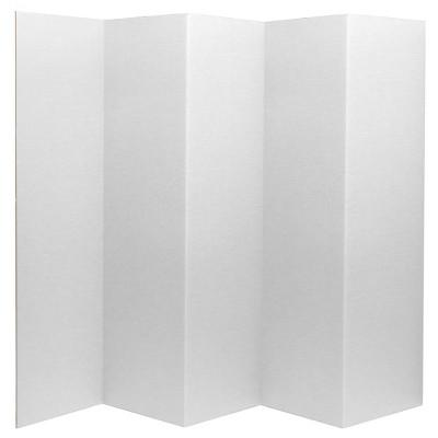 "6"" Cardboard Room Divider 5 Panel - Oriental Furniture"