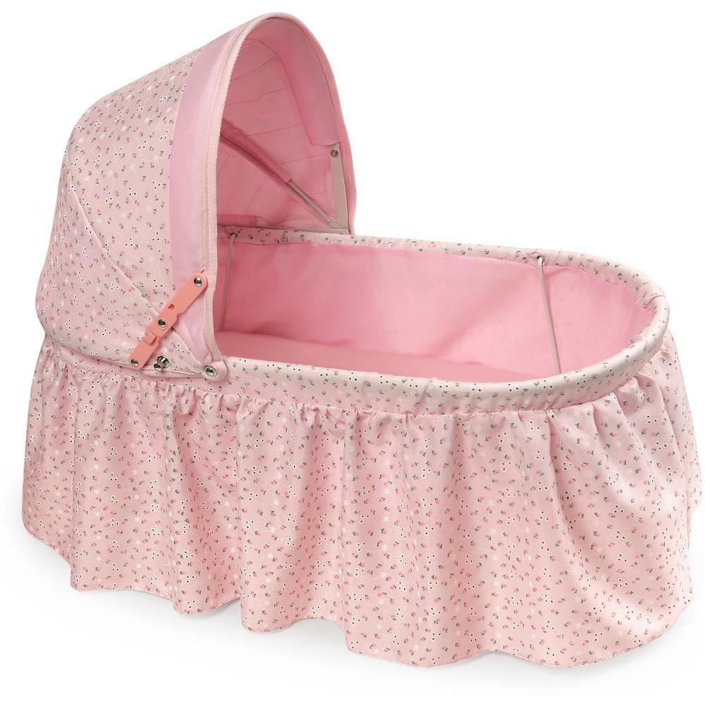 Badger Basket Folding Doll Cradle With Rosebud Fabric