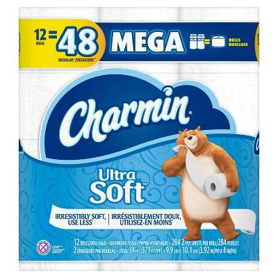 Charmin Ultra Soft Toilet Paper - 12 Mega Rolls