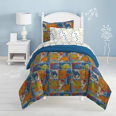 Twin Dino Blocks Mini Bed in a Bag - Dream Factory