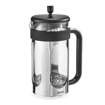 Brim 8-Cup French Press Espresso Maker - Silver