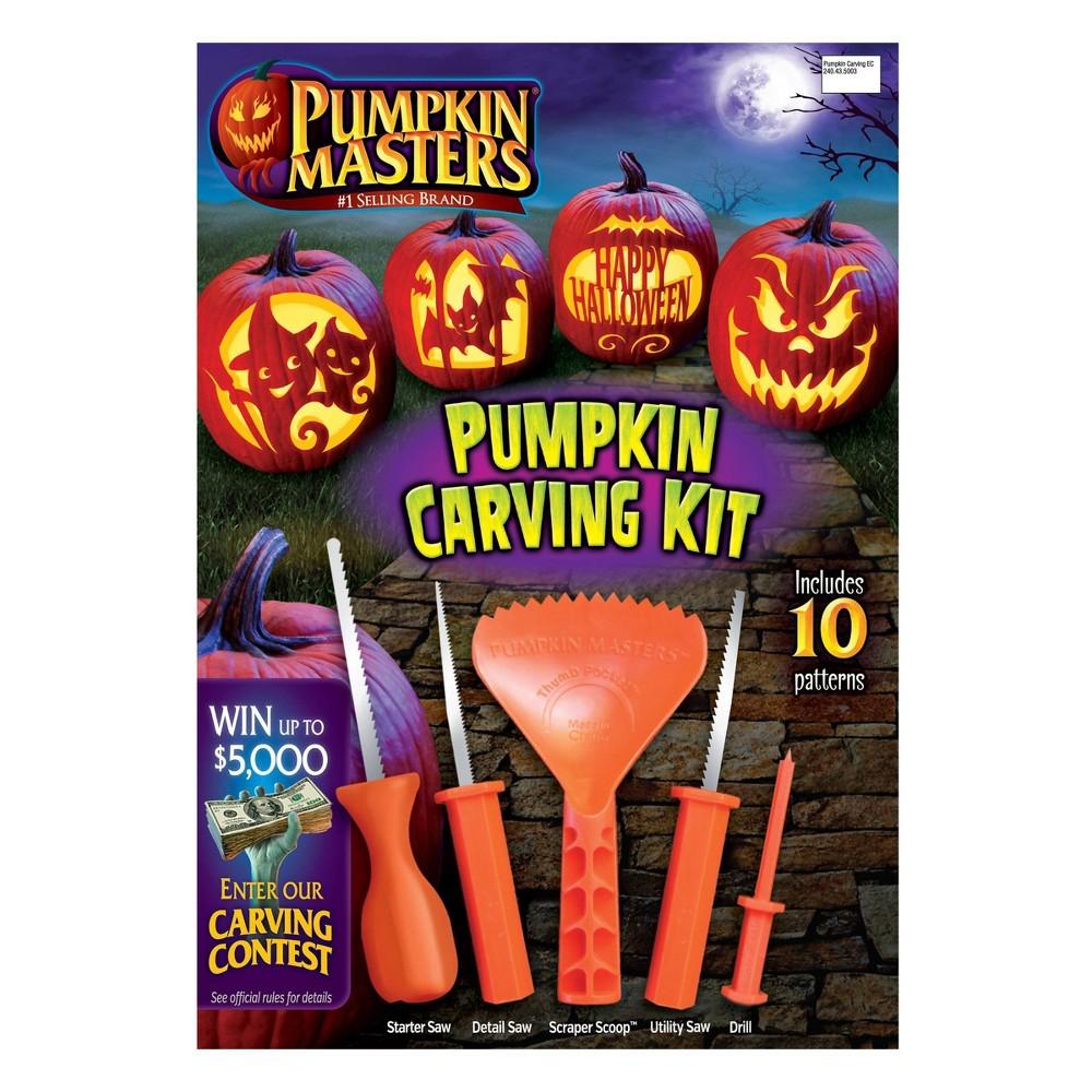 Image of Halloween Pumpkin Masters Halloween Pumpkin Carving Kit, Orange