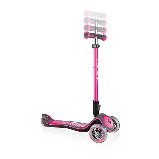Globber Elite Deluxe Kick Scooter - Deep Pink, Kids Unisex image number null