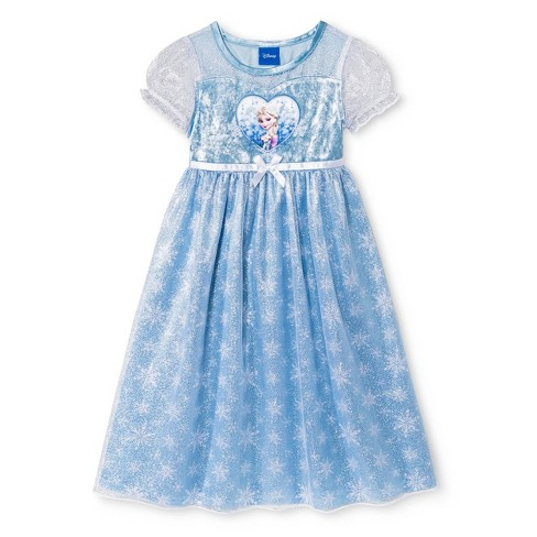 Toddler Girls' Disney Frozen Elsa Nightgown - Bright Blue 3T - image 1 of 1