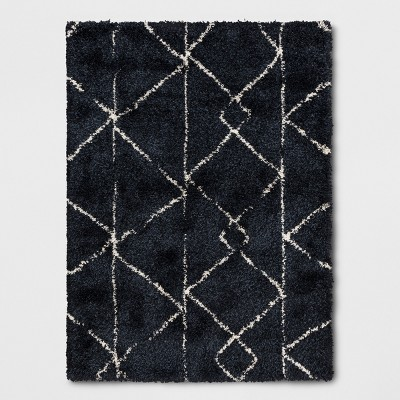 "5'3""x7' Geometric Design Woven Area Rug Navy - Project 62™"