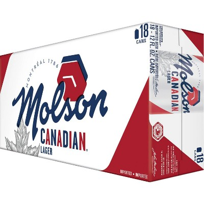 Molson Canadian Lager Beer - 18pk/12 fl oz Cans
