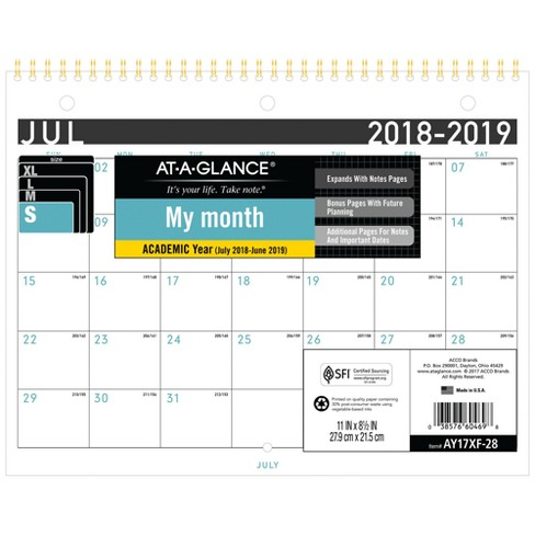 Wall Calendar AT-A-GLANCE White - image 1 of 4