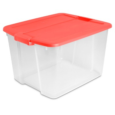 Latch Box Clear with Fresh Melon Lid and Latches 66qt - Room Essentials™