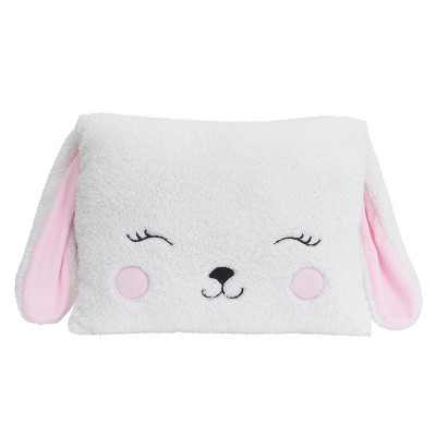 Little Love by NoJo Throw Pillow - Bunny - White