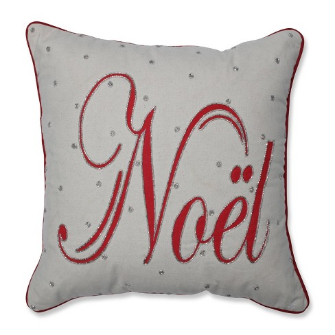 Jeweled Noel Square Throw Pillow - Pillow Perfect - image 1 of 1