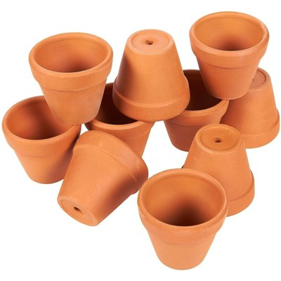 "Juvale 10 Pack Terra Cotta Clay Pots, Small Plant Pots, Planters for Succulent & Cactus, 2 x 2 x 2"""