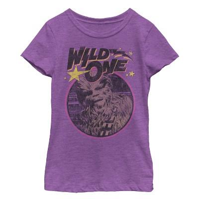 Girl's Star Wars Chewbacca Wild One T-Shirt