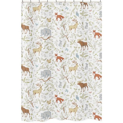 Woodland Toile Shower Curtain - Sweet Jojo Designs