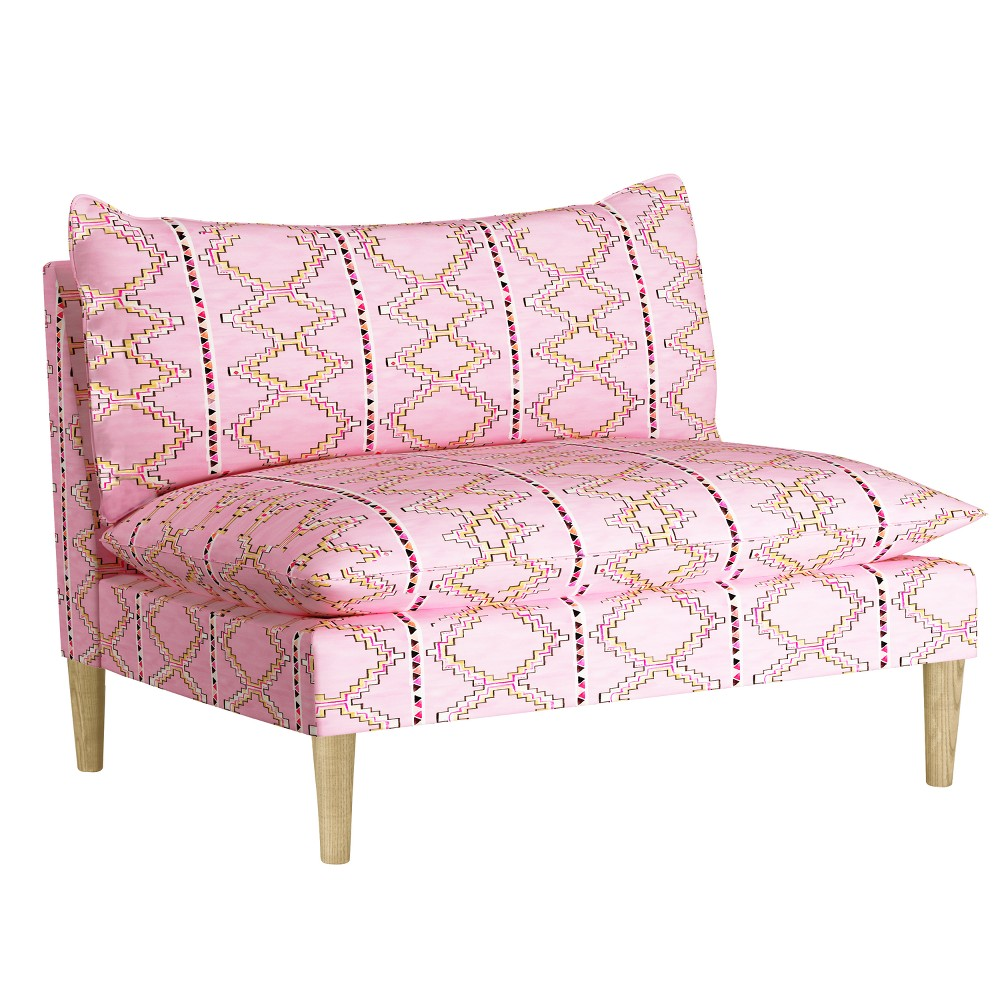 Image of Armless Love Seat - Minimalist Tile Pink - Designlovefest