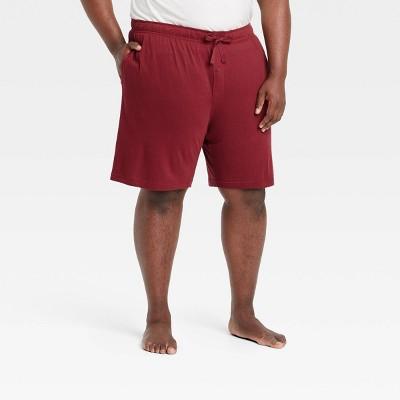 "Men's Big & Tall 9"" Regular Fit Knit Pajama Shorts - Goodfellow & Co™ Royal Burgundy"