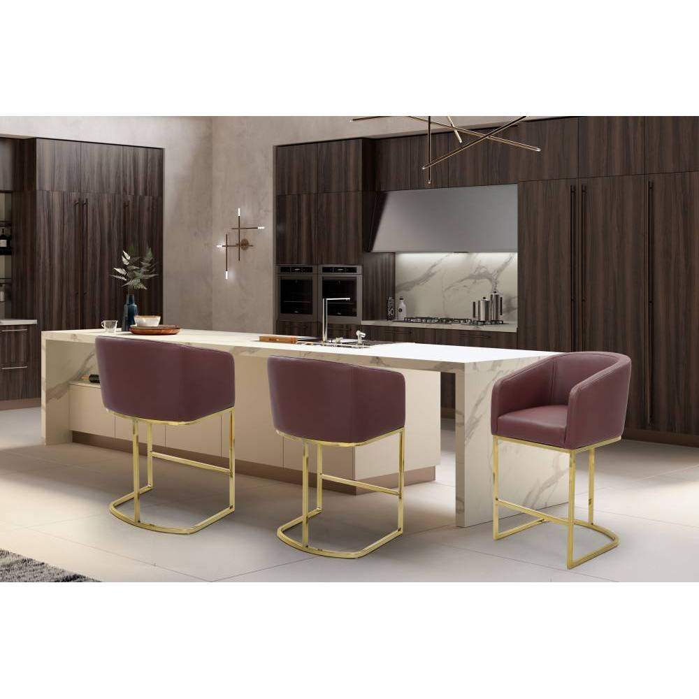 Easly Counter Stool Wine - Chic Home Design was $299.99 now $209.99 (30.0% off)