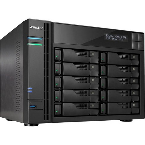 ASUSTOR AS7010T-i5 SAN/NAS Storage System - Intel Core i5 Quad-core (4 Core) 3 GHz - 10 x HDD Supported - 100 TB Supported HDD Capacity - image 1 of 4