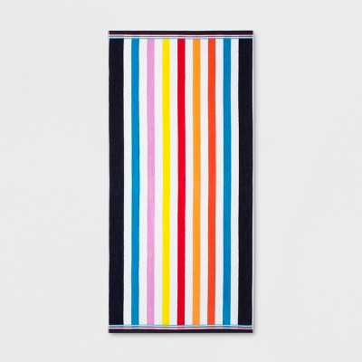 XL Bright Stripes Beach Towel - Sun Squad™