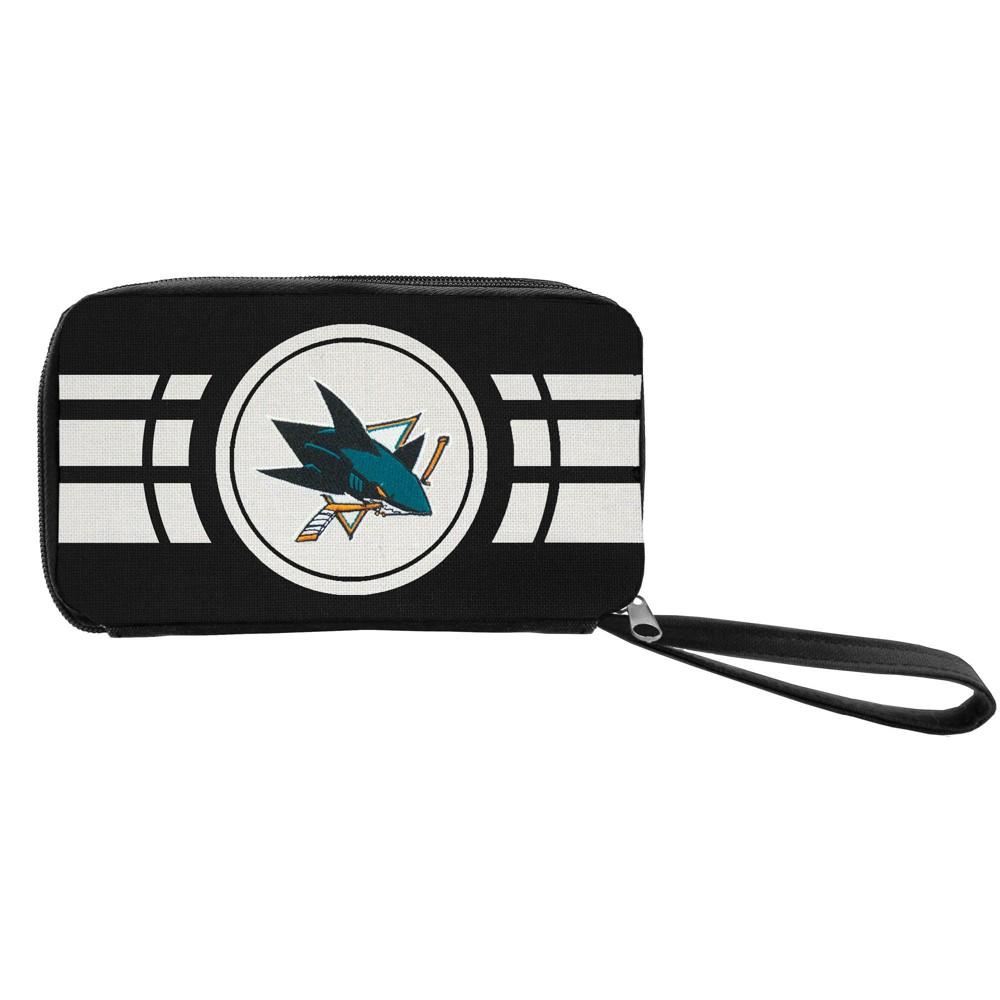 NHL San Jose Sharks Ripple Zip Wallet, Adult Unisex