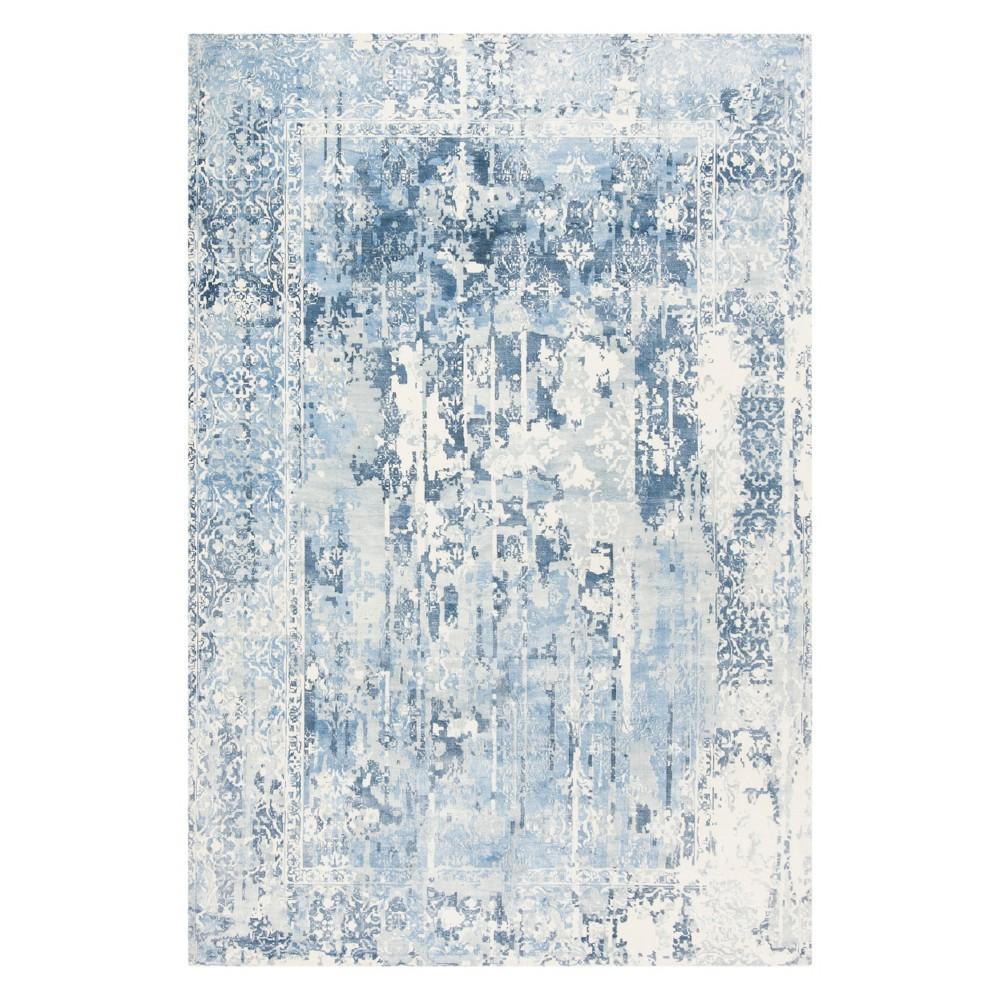 6'X9' Spacedye Design Area Rug Ivory/Blue - Safavieh