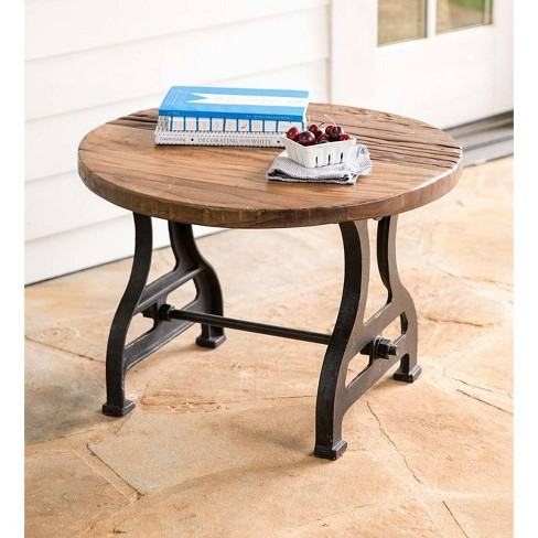 Birmingham Round End Table In Reclaimed Wood And Metal Plow Hearth Target