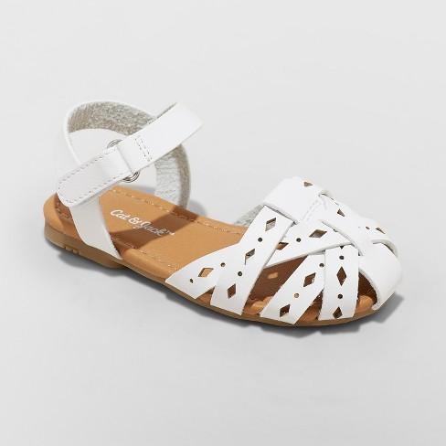 27849e5412d7 Toddler Girls  Elysia Huarache Sandals - Cat   Jack™ White   Target