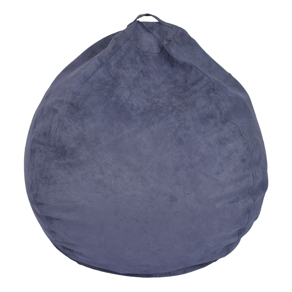 Image of Bean Bag Chair - Dark Blue - Reservation Seating, Washed Blue