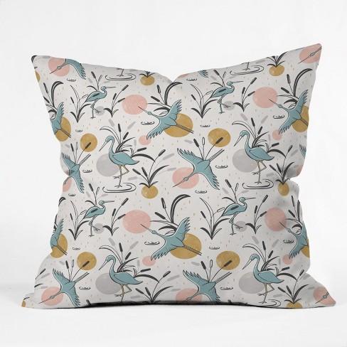 Heather Dutton Marshland Throw Pillow White / Blue - Deny Designs - image 1 of 1