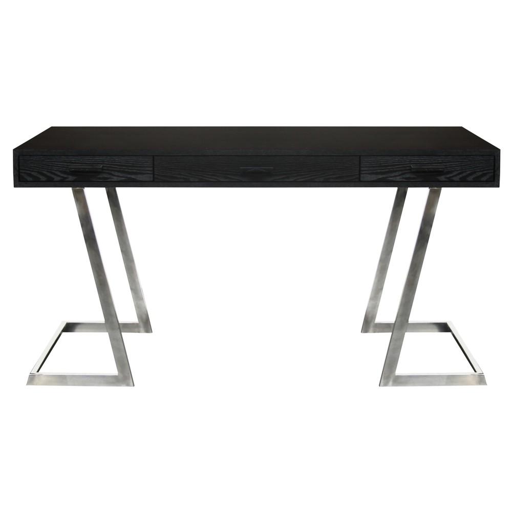 Armen Living Juniper Contemporary Desk Black
