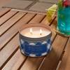 9oz Jar 2-Wick Americana Citronella Blue Lagoon Candle - Sun Squad™ - image 2 of 3